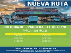 PAQUERA BUS TO FERRY TAMBOR FROM RIO GRANDE OF PAQUERA